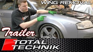 TRAILER - How to remove Front Wing (Fender) - Audi A6 S6 RS6 (C5) - COMPLETE PROJECT