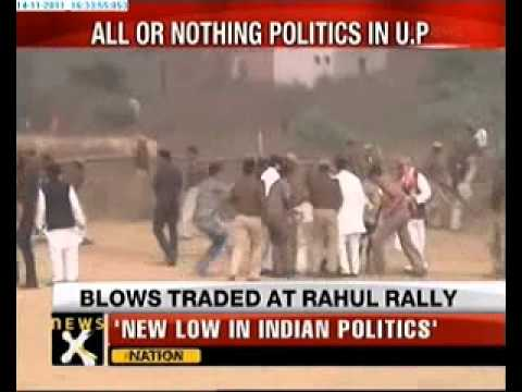 Ruckus at Rahul's rally, Jitin Prasada Kicks protestor