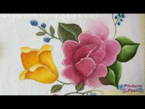 Como Pintuar en Tela Flores *Textile Paint* Manteles Individuales — Pintura Facil Para Ti
