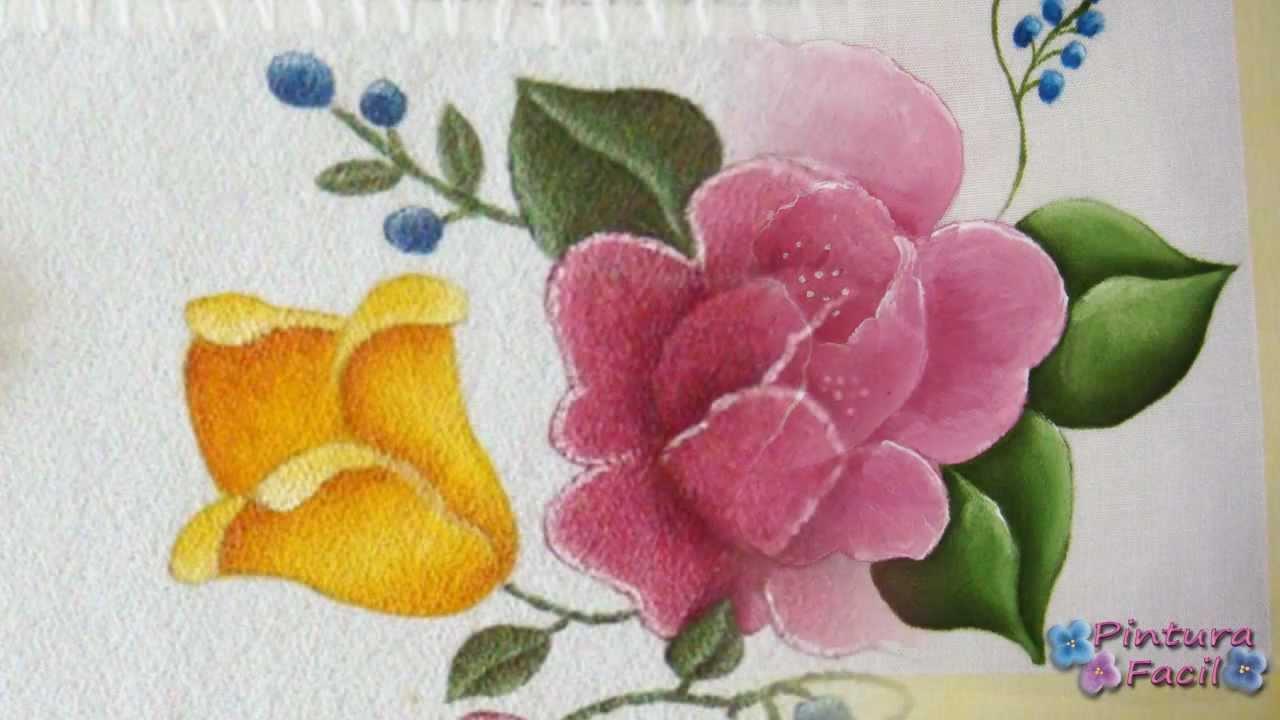 Como pintar en tela flores textile paint manteles - Motivos navidenos para pintar en tela ...