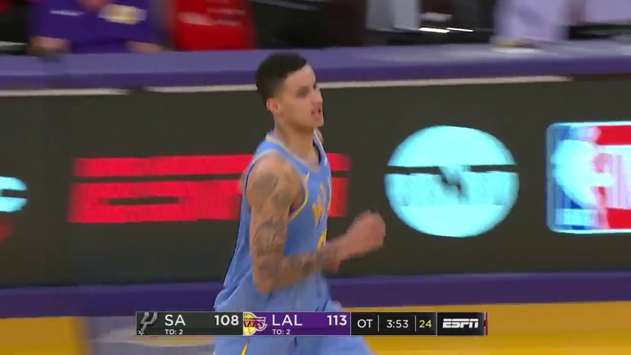 Kyle Kuzma Drops 30 Points in Lakers OT Win Over Spurs