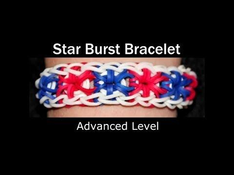 How to make a Rubber Band Starburst Bracelet - Hard Level
