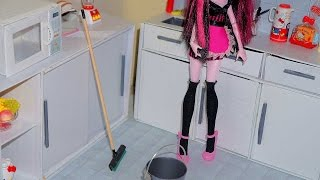 How to make a squeegee and a dustpan for doll (Monster High, MLP, EAH, Barbie, etc)