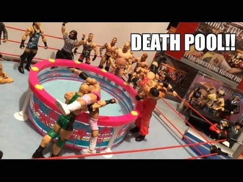 GTS WRESTLING: Dead Pool! WWE Figure Matches Animation! Mattel Elite Action Figure Toys
