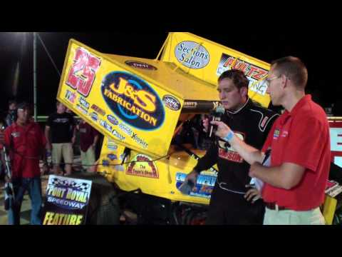 Port Royal Speedway 305 Sprint Car Victory Lane 7-26-14