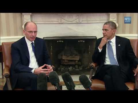 President Barack Obama's Bilateral Meeting with Prime Minister Letta of Italy October 17th, 2013