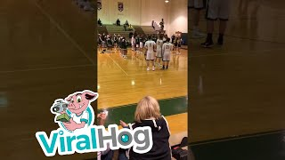 Enthusiastic Basketball Announcer || ViralHog