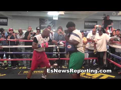mayweather vs maidana fm full mitt workout HD EsNews Boxing Image 1