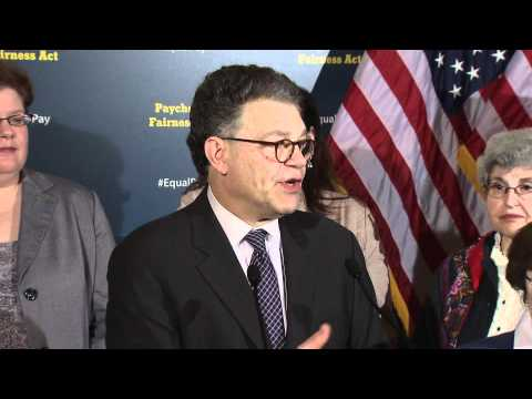 Sen. Franken at the Paycheck Fairness Act Press Conference