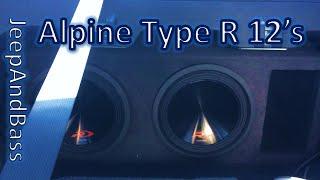 2 Alpine Type R 12's flexing the windshield hard!