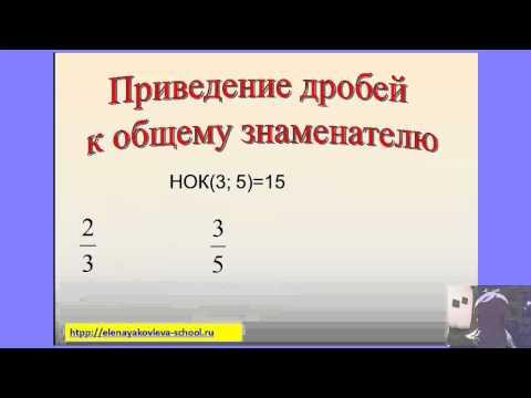 Видеоурок Сравнение дробей - видео