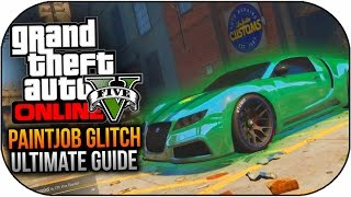GTA 5 Online - Ultimate Paintjob Glitch Guide! - All Colour Glitches Online (GTA 5 Online)