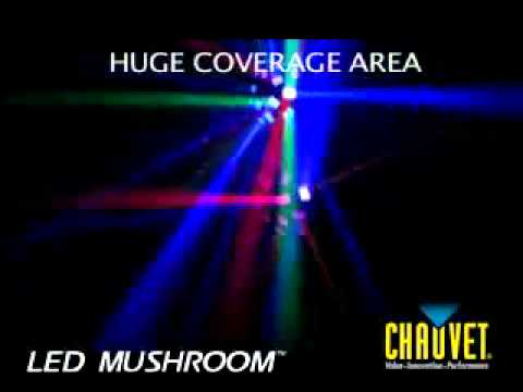 Chauvet LED Mushroom Derby Effect Light demo