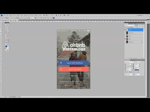 How To Design a Mobile App Signup Screen in Adobe Photoshop
