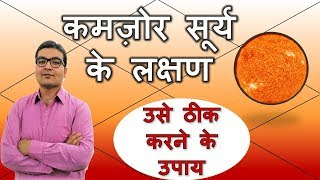 कमज़ोर सूर्य के लक्षण और ठीक करने के उपाय (Weak Sun & Its Remedies) | Vedic Astrology | Hindi
