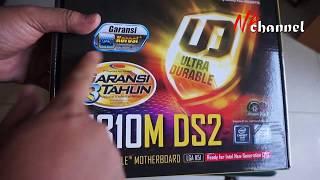 Unboxing Gigabyte H310M-DS2 (LGA1151, H310, DDR4, USB3.1, SATA3) kelas murah gigabyte