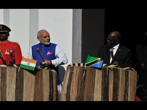 PM Modi receives Ceremonial Welcome, Barack Obama Drive in Dar es Salaam, Tanzania
