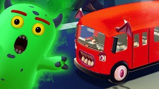 Wheels On The Bus Halloween Special Song 3D Nursery Rhymes by Hoopla Halloween