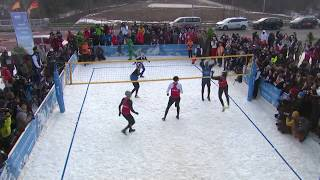 Exhibition match on Snow Volleyball Night in PyeongChang 2018