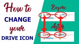 How to change drive icon in windows 7,8,8.1,10| Tagalog