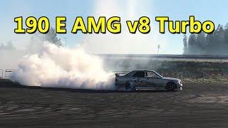 Mercedes 190E AMG V8 Turbo 800hp street test