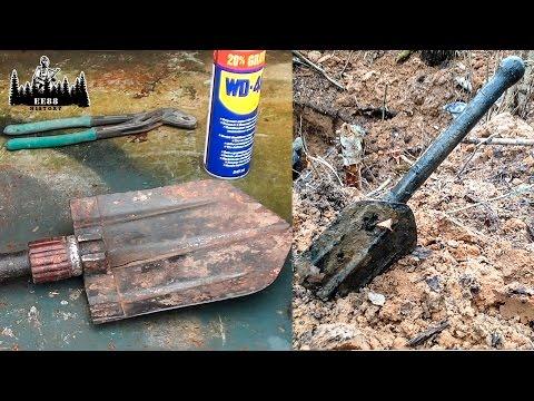 Немецкая складная сапёрная лопатка с блиндажа | Engineer shovel | EE88