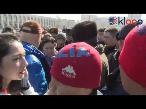 Задержание Текебаева.  Сторонники оппозиционера собираются на митинг возле Жогорку Кенеша