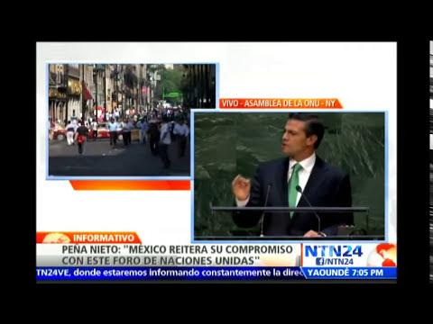 """Enrique Peña Nieto insta a la ONU a """"transformarse en beneficio de toda la humanidad"""""""
