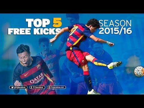 FCB Academy Best goals 2015/16: TOP 5 FREE KICKS