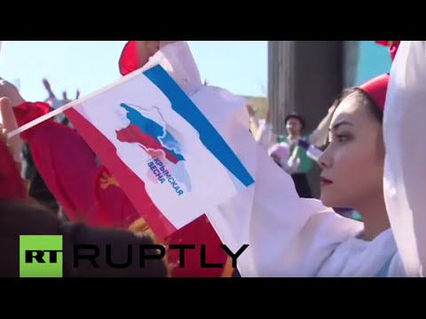 Russia: Crimea marks second anniversary of reunification with Russia in Simferopol