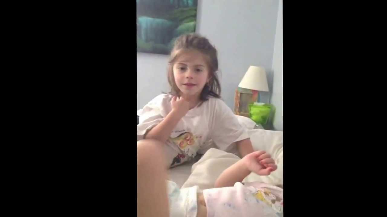 Nap time viley in diapers b short hair - YouTube