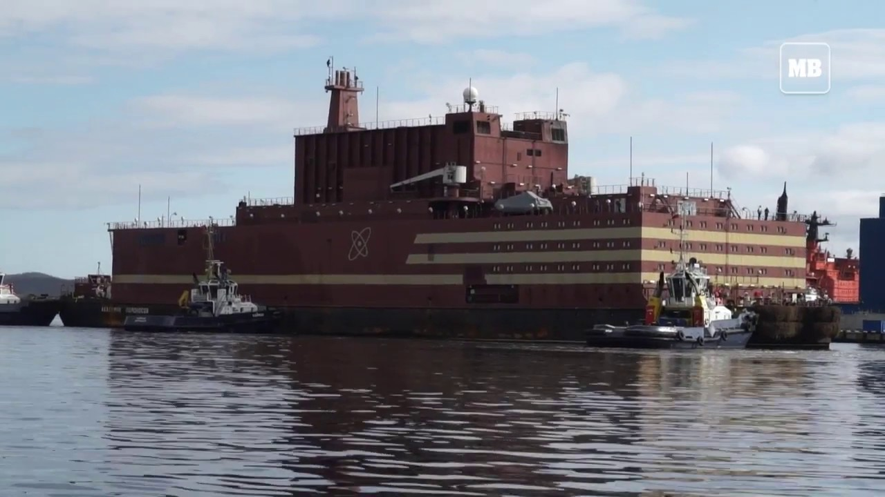 Russia unveils world's first floating nuclear barge