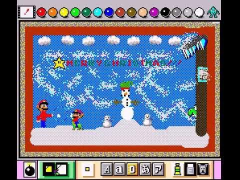 Mario Paint (Joystick) - Mario Paint Vizzed Christmas Challenge - User video