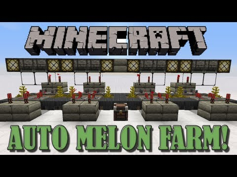 Fully Automatic Melon Farm - Minecraft Tutorial