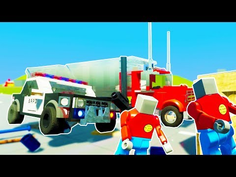 LEGO CARS VS PEOPLE ULTIMATE DEATH RUN CHALLENGE! Brick Rigs Multiplayer Gameplay