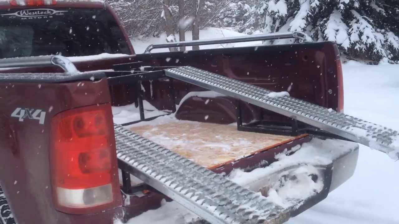 Polaris Ranger 800 Midsize Loading In To The Truck Box Of