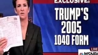 Rachel Maddow mocked on Twitter for 'fake hit' on Trump's tax returns