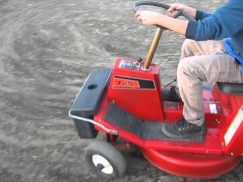 7 25 Sears Riding Lawn Mower Sears Craftsman Youtube