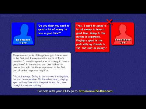 IELTS Speaking Exam Tutorial  - Part 1 of the IELTS Exam