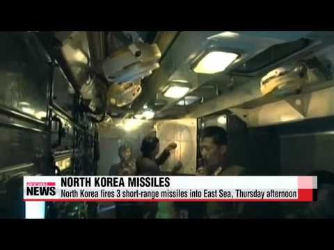 North Korea fires 3 short-range missiles into East Sea