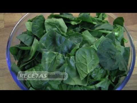 ★ Espinacas en el microondas - Recetas de cocina RECETASonline