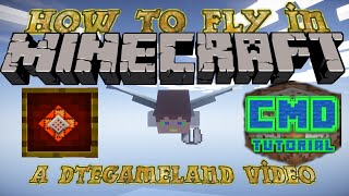 How To fly in Minecraft CMD Tutorial Ep 3  (1.11)