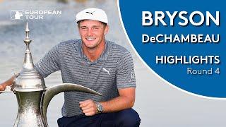 Bryson DeChambeau Winning Highlights   2019 Omega Dubai Desert Classic