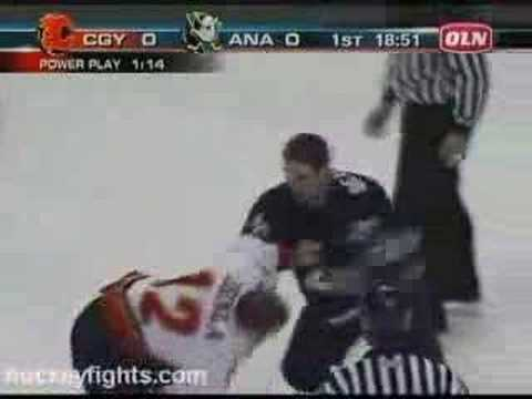 Iginla vs Beauchemin May 1, 2006 Video