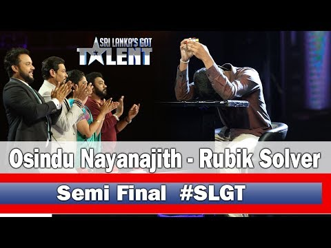Osindu Nayanajith | Rubik Solver - #SLGT -Semi Final Performance | Sri Lanka's Got Talent