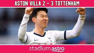 Aston Villa 2 - 3 Tottenham | EPL Highlights | Astro Supersport |