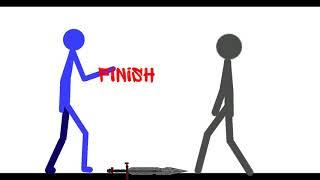 Мини бой серого и меня   Рисуем мультфильмы 2