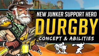 Overwatch NEW Support Hero Durgby Concept - Junkertown Healer Lore, Abilities and More!