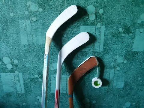 Как обмотать хоккейную клюшку.