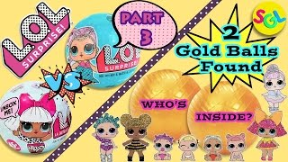 LOL Surprise Dolls Series1 Wave 1 vs 2: Rare Glitterati Ultra Rare Baby Dolls 2 Gold Balls FOUND SGL